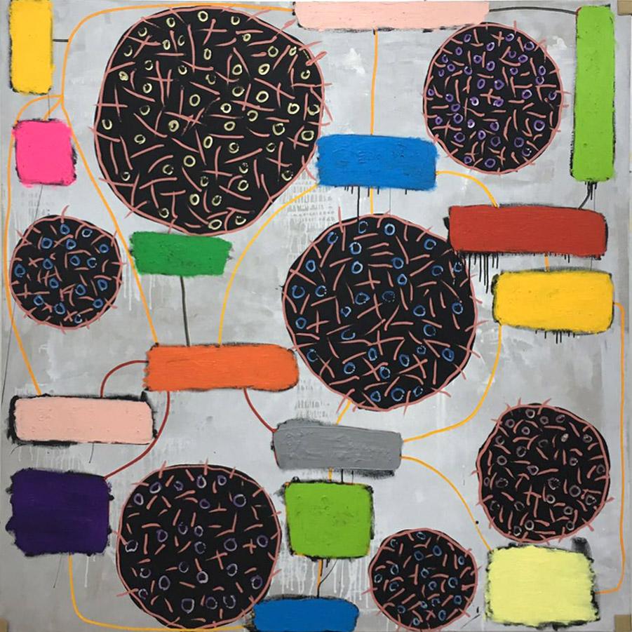 T. mixta. 200 x 200 cm. 2016