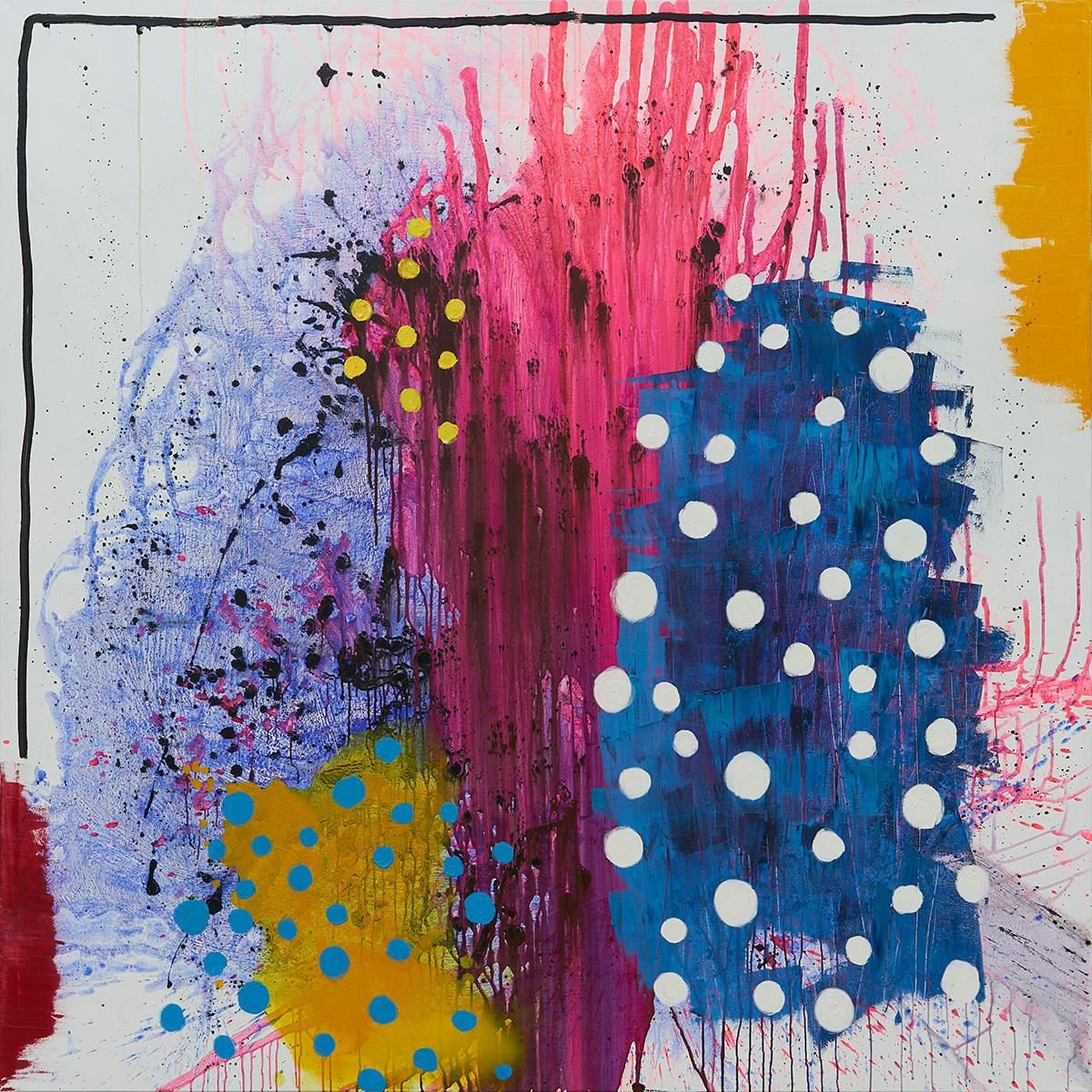 Mixed/canvas 200x200 cm. 2018